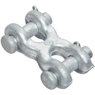 "Campbell 489 G Drop Forged Carbon Steel Twin Clevis Link, Galvanized, 7/16""   1/2"" Trade, 9200 lbs Load Capacity Pulling And Lifting Chain Links"