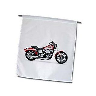 3dRose fl_ 4490_1 Harley Davidson Motorcycle Picture Garden Flag  Outdoor Flags  Patio, Lawn & Garden