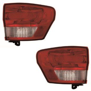 2011 2012 2013 Jeep Grand Cherokee Taillamp Taillight Rear Brake Tail Light Lamp (Quarter Panel Outer Body Mounted) Pair Set Right Passenger And Left Driver Side (11 12 13) Automotive