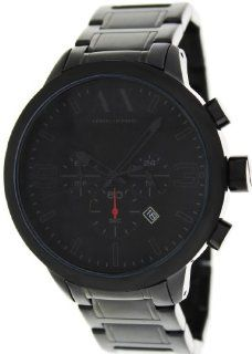 Armani Exchange Chronograph Black Dial Black Ion plated Mens Watch AX1277 Armani Exchange Watches