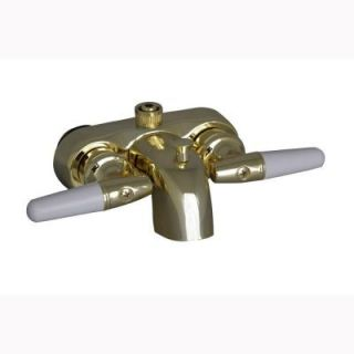 Pegasus 2 Handle Claw Foot Tub Diverter Faucet without Hand Shower in Polished Brass 195 S PB