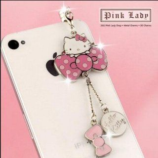 ip477 Cute Hello Kitty Dust Proof Phone Plug Cover Charm For iPhone Smart Phone Cell Phones & Accessories