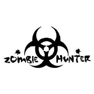 "ZOMBIE HUNTER   8"" BLACK   Vinyl Decal Window Sticker Automotive"