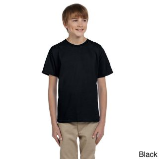 Gildan Gildan Youth Ultra Cotton 6 ounce T shirt Black Size XS (4 6)