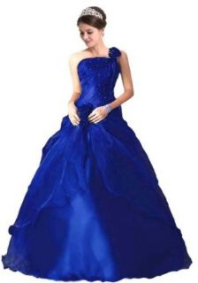 Faironly #Nb m6 Navy Blue One Shoulder Formal Prom Dress