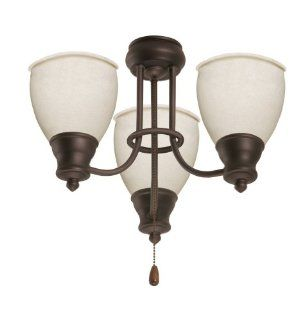 Emerson F495WW Three Light Chandelier Fitter with Three 13 Watt Medium Base Compact Fluorescent Bulbs, 13.5 Inch Wide, 6.5 Inch High, Appliance White