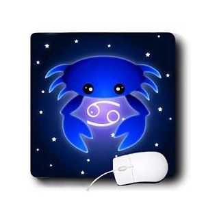 mp_28551_1 Janna Salak Designs Zodiac   Cute Astrology Cancer Zodiac Sign Blue Crab   Mouse Pads Computers & Accessories