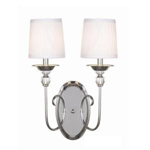 Hampton Bay Locksley Collection 2 Light Chrome Wall Sconce 20305 024