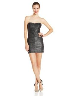 Hailey Logan by Adrianna Papell Juniors Strapless Wave Dress