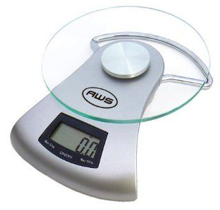 American Weigh AMW 505 11 pound capacity Glass Top Kitchen Scale Electronics