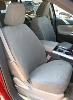 Exact Seat Covers, F493 V7, 2011 2012 Ford Edge Limited and Sport Pair Front Bucket Exact Fit Seat Covers, Gray Velour Automotive