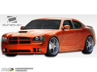 2006 2010 Dodge Charger Duraflex SRT Look Body Kit   4 Piece   Includes SRT Look Front Bumper Cover (104850) VIP Side Skirts Rocker Panels ( 103331) VIP Rear Lip Under Spoiler Air Dam (103330) Automotive