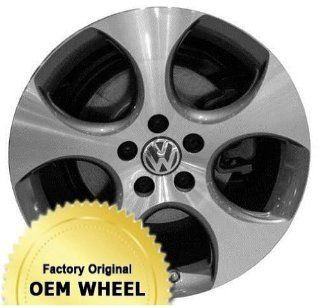VOLKSWAGEN GOLF,JETTA 18x7.5 5 SPOKE Factory Oem Wheel Rim  MACHINED FACE GREY   Remanufactured Automotive