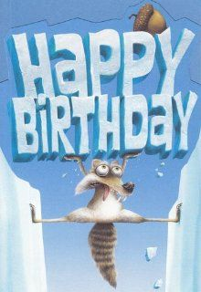 "Greeting Card Birthday Ice Age Dawn of the Dinosaurs ""Happy Birthday"" Health & Personal Care"