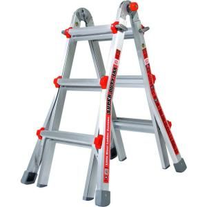 Little Giant Ladder Super Duty 11 ft. Aluminum Multi Position Ladder with 375 lb. Load Capacity Type IAA Duty Rating 10401