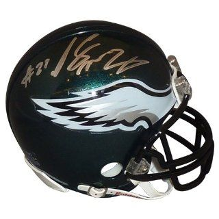 Lesean Mccoy Signed Autograph Philadelphia Eagles Mini Helmet Authentic Certified Coa Sports Collectibles