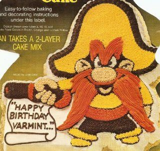 Wilton Yosemite Sam Cake Pan (502 2908, 1981) Warner Bros. Kitchen & Dining