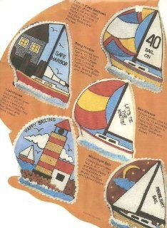 Wilton Cake Pan Sailboat/Lighthouse/Snug Harbor (502 3983, 1984) Novelty Cake Pans Kitchen & Dining