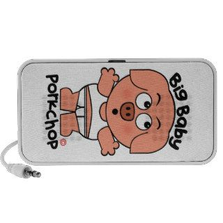 Cute Pig Big Baby Porkchop Notebook Speakers