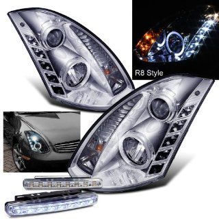 2005 INFINITI G35 HALO PROJECTOR HEADLIGHTS HEAD LIGHTS 2DR + 8 LED BUMPER LAMPS Automotive