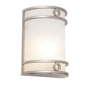 Filament Design Cabernet Collection 1 Light 24 in. Brushed Nickel Wall Sconce with White Frosted Shade CLI WUP595162