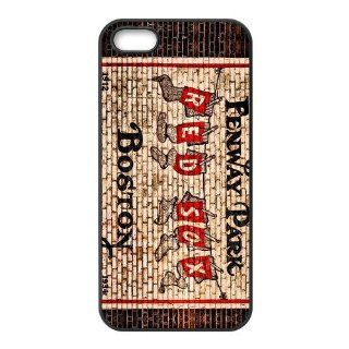 MLB Iphone Case Boston Red Sox Baseball Team Logo Desing for TPU Best Iphone 5 Case (AT&T/ Verizon/ Sprint) Cell Phones & Accessories