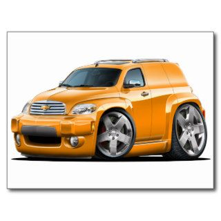Chevy HHR Orange Panel Truck Post Cards