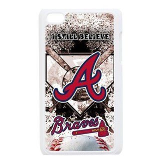 MLB Atlanta Braves Team For IPod Touch 4th Black or White Durable Plastic Case Creative New Life Cell Phones & Accessories