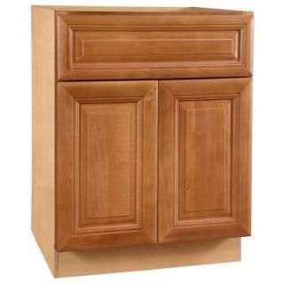 Home Decorators Collection Assembled 24x34.5x24 in. Base Cabinet with Double Doors in Laguna Cinnamon B24 LCN