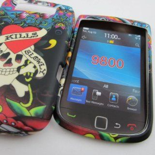 HARD PHONE CASES COVERS SKINS SNAP ON FACEPLATE PROTECTOR FOR RIM BLACKBERRY SLID UP SLIDER BB TORCH 9800 / TORCH 4G 9810 / LOVE KILLS SLOWLY TATTOO (WHOLESALE PRICE) Cell Phones & Accessories