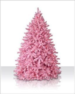 6 ft. Powder Pink Artificial Christmas Tree with Pink Lights