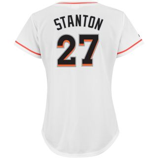 Majestic Athletic Miami Marlins Giancarlo Stanton Womens Replica Home Jersey