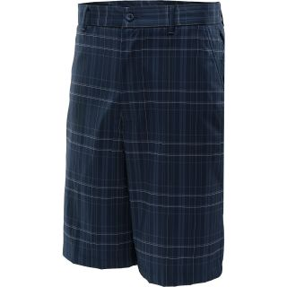 TOMMY ARMOUR Mens Plaid Flat Front Golf Shorts   Size 34, Dress Blue