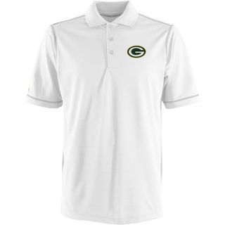 Antigua Green Bay Packers Mens Icon Polo   Size Medium, White/silver (ANT