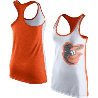 NIKE Womens Baltimore Orioles Dri Blend Logo Loose Tank Top   Size Large,