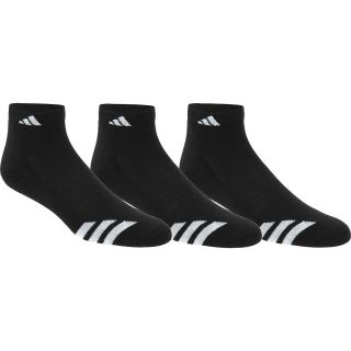adidas Mens Cushioned 3 Stripes Low Cut Socks   3 Pack   Size Large,