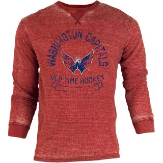 OLD TIME SPORTS Mens Washington Capitals Haven Acid Washed Long Sleeve T Shirt