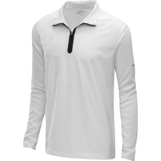 NIKE Mens 1/2 Zip Banded Tech Golf Shirt   Size Small, White/silver