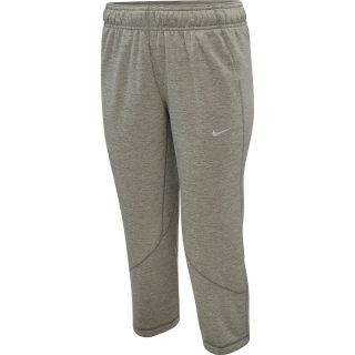 NIKE Womens All Time Fleece Capris   Size Medium, Dk.grey Heather/white