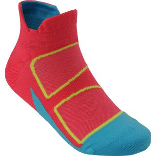 FEETURES Elite Ultra Light No Show Socks   Size Medium, Coral/blue