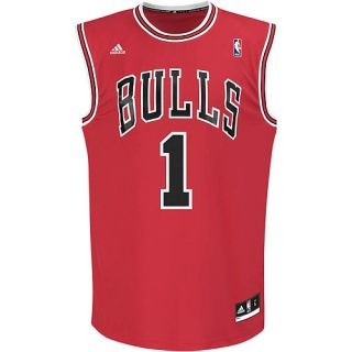 adidas Mens Derrick Rose #1 Chicago Bulls Revolution 30 Red Replica Jersey