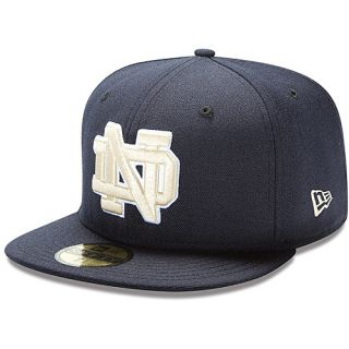 NEW ERA Mens Notre Dame Fighting Irish Authentic Collection 59FIFTY Fitted Cap