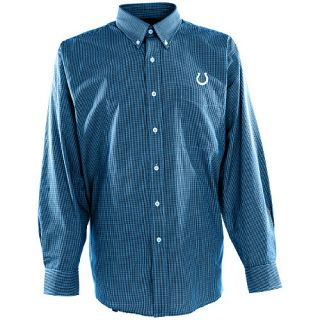 Antigua Mens Indianapolis Colts Focus Cotton/Polyester Woven Mini Check Button