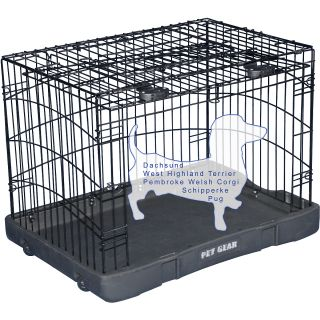 Pet Gear Travel Lite Steel Crate   Size 27, Black (TL5927BK)