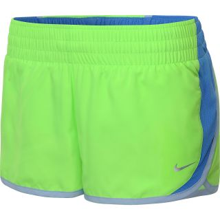 NIKE Womens Dash Running Shorts   Size Xl, Flash Lime/blue