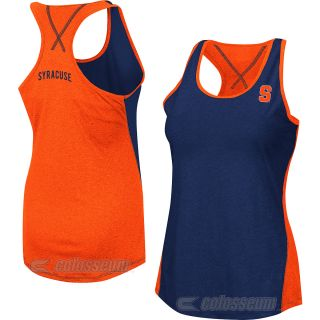 COLOSSEUM Womens Syracuse Orange Bristol Tank   Size Large, Rust