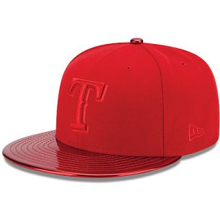 NEW ERA Mens Texas Rangers MeddleD Solid Color 59FIFTY Fitted Cap   Size 7.