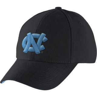 NIKE Mens North Carolina Tar Heels Legacy 91 Second Logo Swoosh Flex Cap, Black