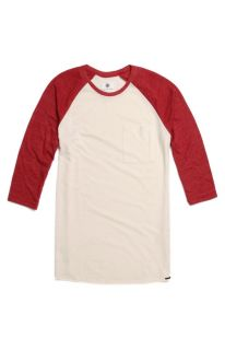 Mens On The Byas Long Sleeve Shirts   On The Byas Triblend Baseball T Shirt