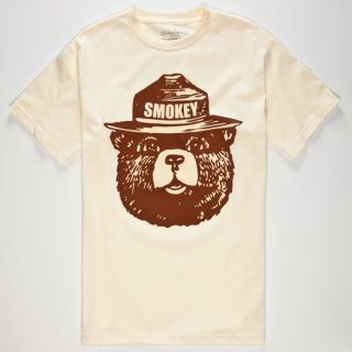 Smokey Mens T Shirt Natural In Sizes Xx Large, Medium, Small, X L